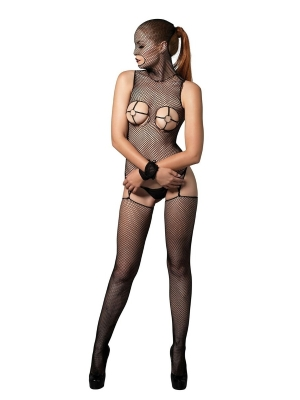 Bodystocking with O-ring cups - Black One Size