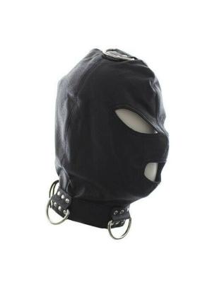Bondage Hook Mask+Collar BLACK