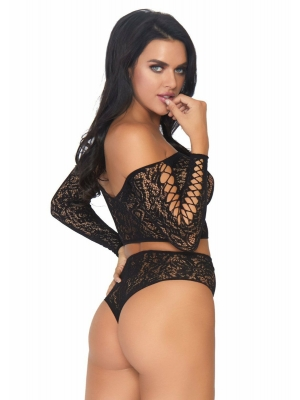 2 PC top and high waist thong