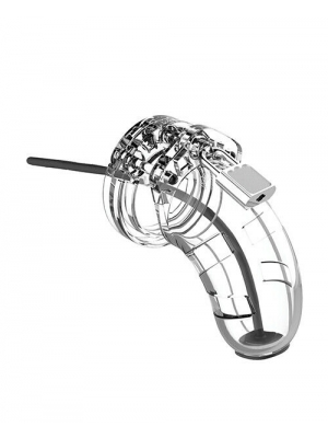"""Model 15 - Chastity - 3.5"""" - Cage with Silicone Urethal Sounding"""