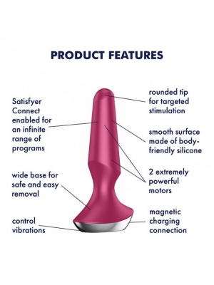 Satisfyer Plug-ilicious 2 Dual Motor Butt Plug (Berry)