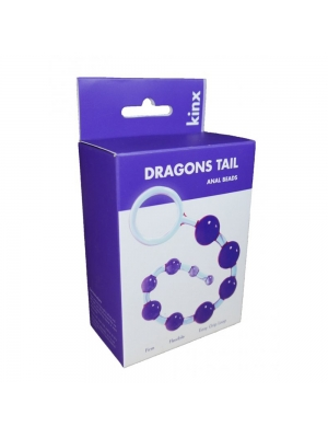 Kinx Dragons Tail Beads Purple 25cm