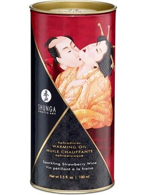 Aphrodisiac Warming Oil - Sparkling Strawberry Wine - 100ml