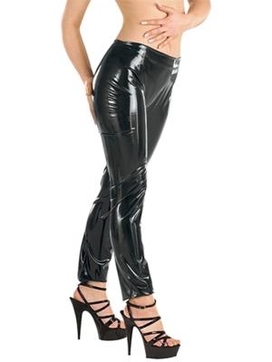 Sharon Sloane Latex Leggings Black Medium