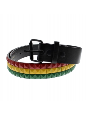 Red, Yellow & Green Chessboard 3-Row Pyramid Belts